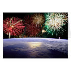 World and Fireworks card