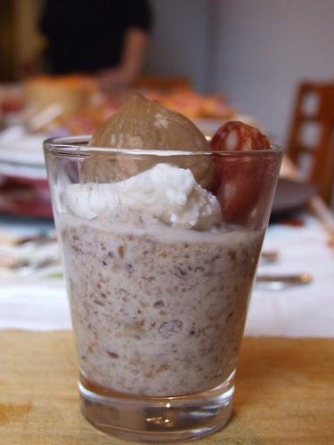 Bicchierini crema di lenticchie, castagne e salamino piccante_Maria Toti