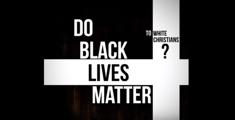 "Word art: ""Do Black Lives Matter to white Christians?"""
