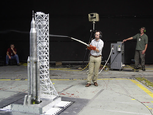 Wind Tunnel Testing for SLS Liftoff (NASA, Space Launch System, 09/20/13) by NASA's Marshall Space Flight Center
