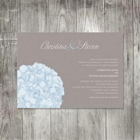 Elegant Hydrangea Wedding Invitation Set, Floral Wedding