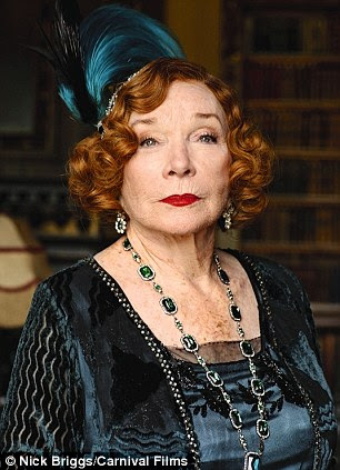 Screen legend: Shirley MacLaine, pictured in Downton Abbey, says she has seen plenty of UFOs