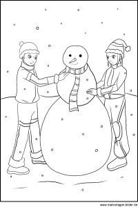 schneemann winterbilder zum ausmalen - malvorlagen