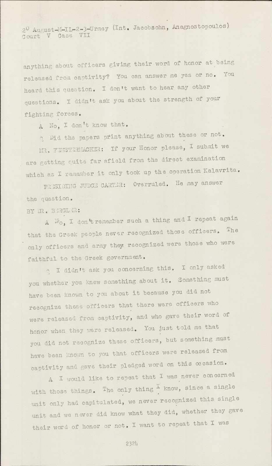 Nuremberg Transcript Viewer Transcript For Nmt 7 Hostage Case
