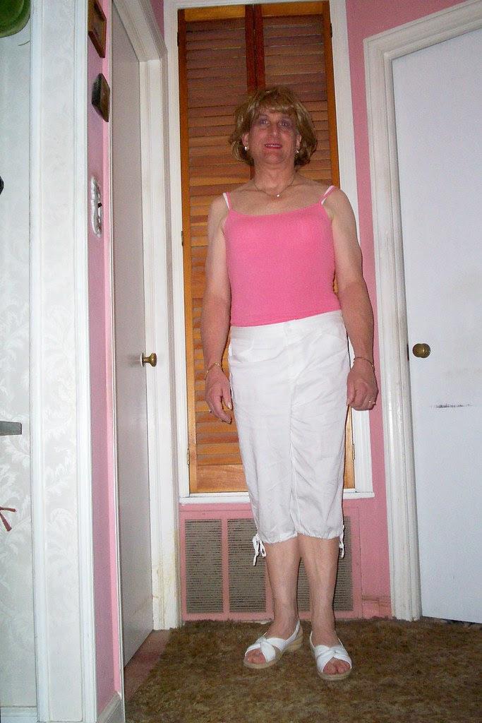summer pink cami and capri's