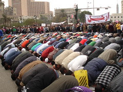 Praying time at Al Tahrir square
