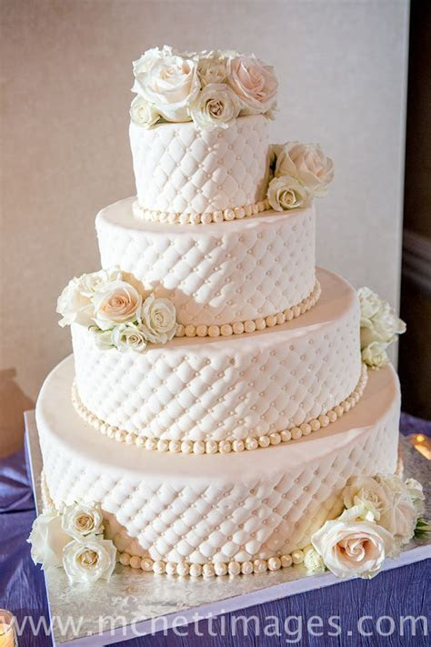 Wedding Cake ? Meghan and Dave's 4 Tier Fondant Quilted
