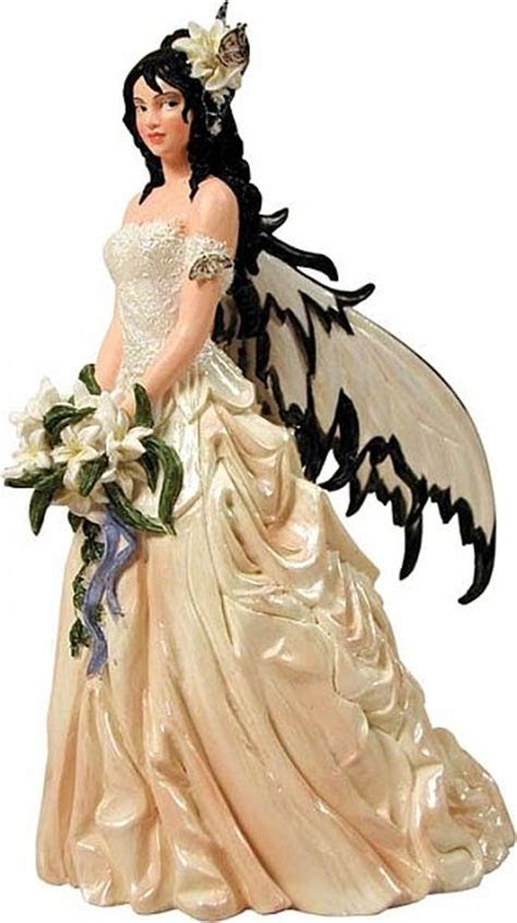 Fantasy Couture Dark Haired Fairy Bride Wedding Cake