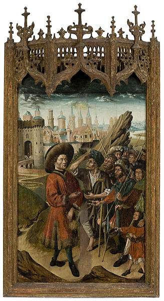 St. Giles giving to the poor.