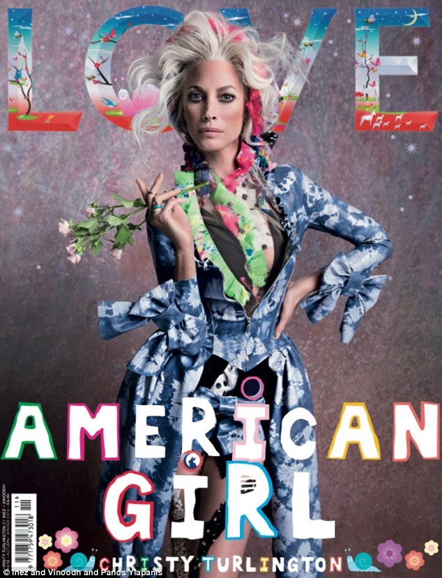 She's in Love! Christy Turlington Burns is one of four cover stars on Love magazine's autumn/winter 2014 issue