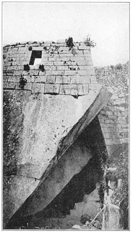 Temple over Cave at Machu Picchu Suggested by the Author as the Probable Site of Tampu-Tocco