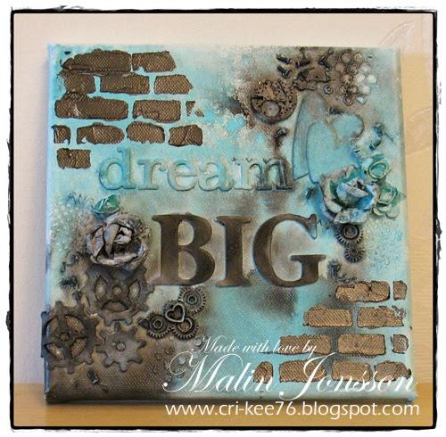 Canvastavla Dream Big 1