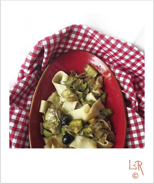 pappardelle verdure e olive