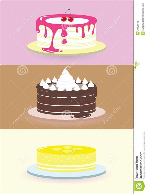 Cake illustration/ stock vector. Image of background