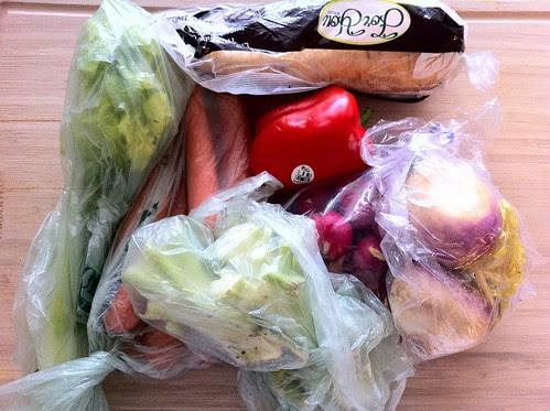 Leftover Vegetables from Refrigerator