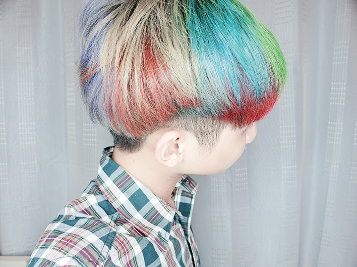 hair rainbow dye