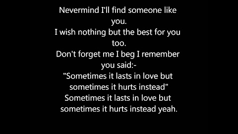 Never Thought I Could Find Someone Like You Lyrics