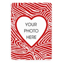 Scribbleprint Heart Photo Card profilecard