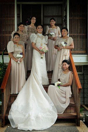 The bride, groom and the entourage wore traditional gowns