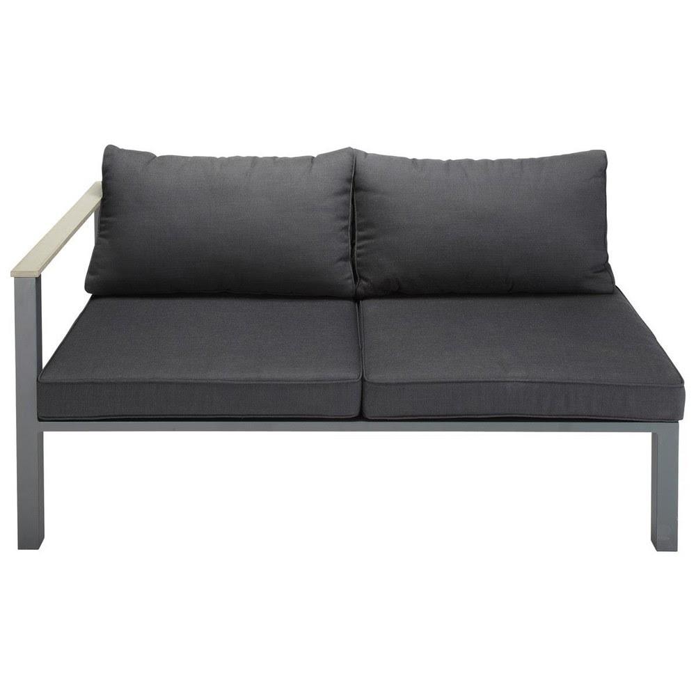 2 seater aluminium garden sofa left corner section in ...