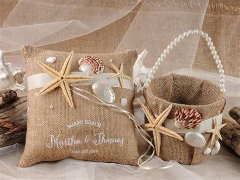Flower Girl Basket & Ring Bearer Pillow Set   Rustic