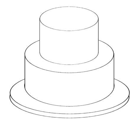 Birthday Cake Outline   Free download best Birthday Cake