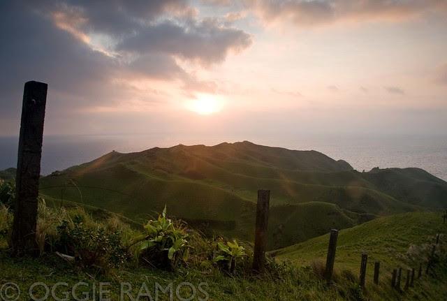 Batanes - Rolling Hills Fence Sunset
