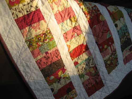 quilt reflecting the sunset