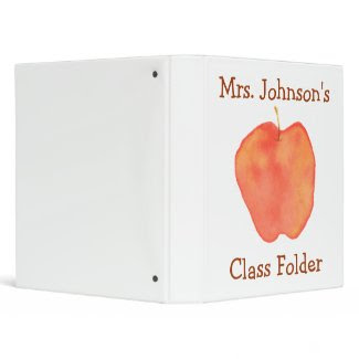 Personalized Teaching Folder zazzle_binder