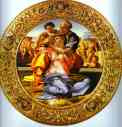 Michelangelo. Doni Tondo - The Holy Family with St. John the Baptist.