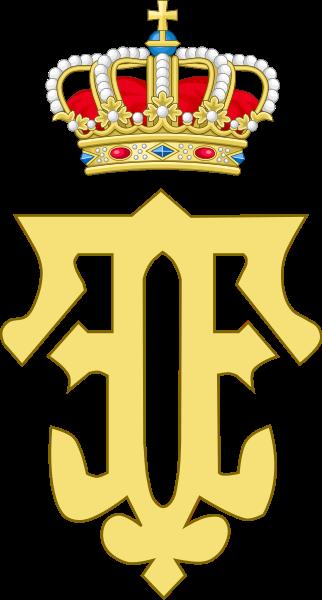 Archivo: Royal monograma de la reina Fabiola de Belgium.svg