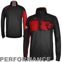 adidas Louisville Cardinals Sideline Player Warm-Up Full Zip Performance Jacket - Black