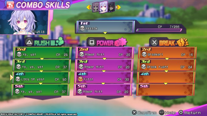 Jogabilidade e menus de Hyperdimension Neptunia Re;Birth 3 continuam mais complicados do que o necessário (Foto: Divulgação)