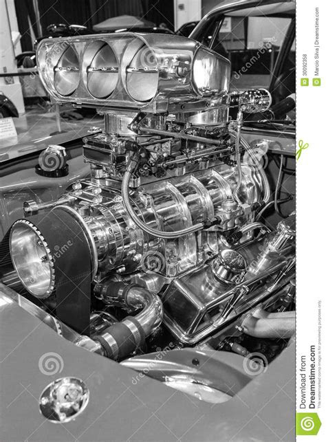 American Muscle Car's Engine Royalty Free Stock Photos
