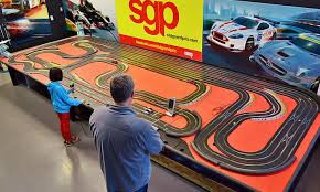 Slot car racing in NJ with 4 slot car tracks.Party room for kid's birthday parties.Fully stocked slot car parts counter.Slot Car Racing weekly.Call