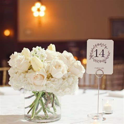 Small all white centerpiece   Wedding ideas in 2019