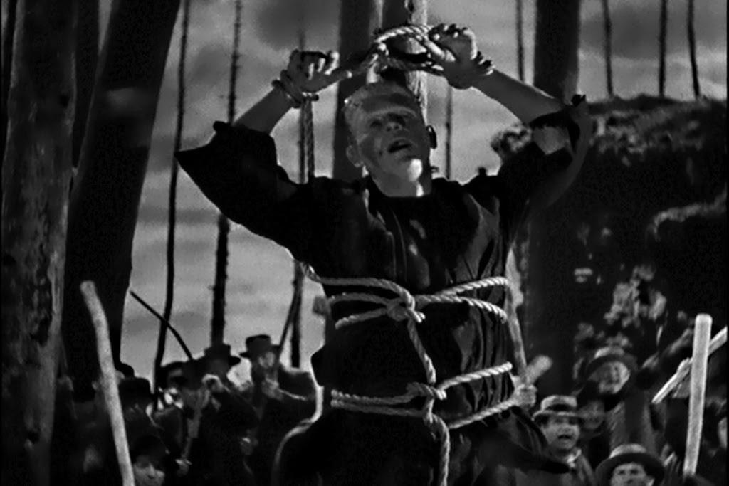 Bride of Frankenstein Karloff Tied