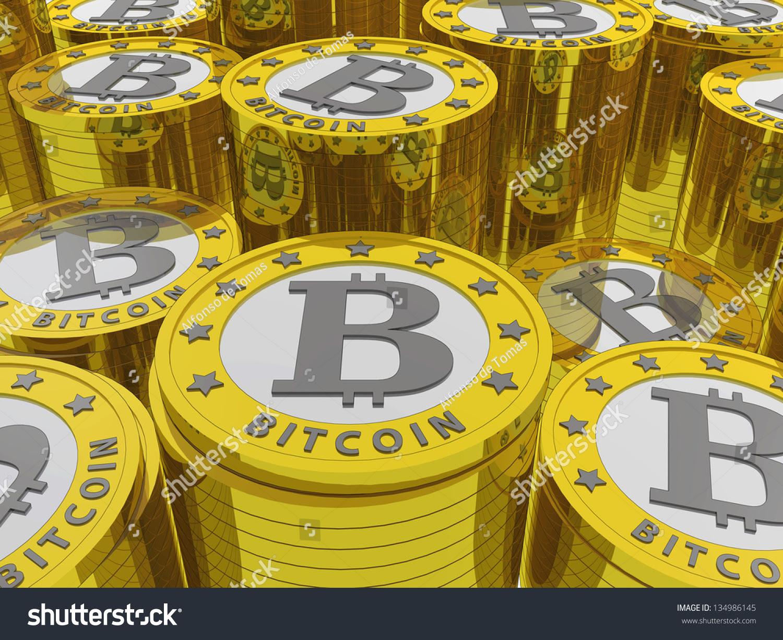Bitcoins Stock Photo 134986145 : Shutterstock