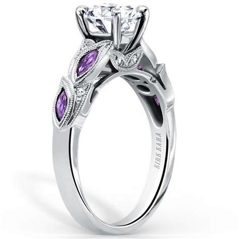 Kirk Kara Dahlia Amethyst Diamond Engagement Ring