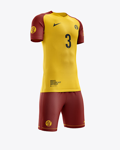 Download Mens Soccer Kit (Right Half Side View) Jersey Mockup PSD ...
