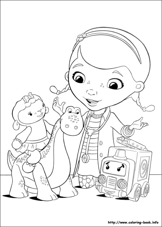 67 Disney Coloring Pages Doc Mcstuffins Images & Pictures In HD
