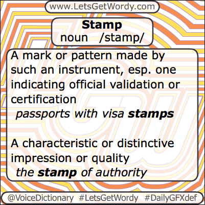 Stamp 03/22/2013 GFX Definition of the Day