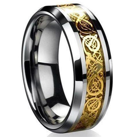 Fashion Celtic Dragon Stainless Steel Titanium Men's