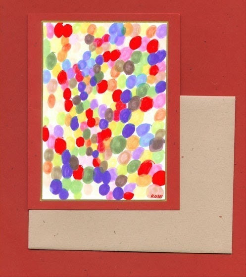 Abstract Art Blank Note Card - Artist With Autism