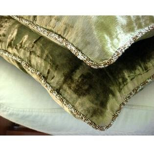 The HomeCentric Olive Shimmer - 22x22 Inches Large Pillow Covers ...