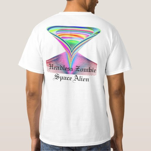 bBizarre Bizarre Headless Zombie Space Alien Tshirt