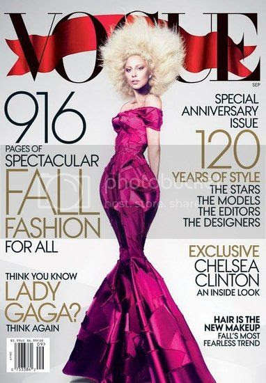 Lady Gaga on Vogue September 2012 Cover
