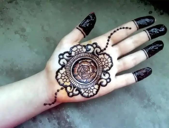 Simple Easy Tikki Mehndi Designs