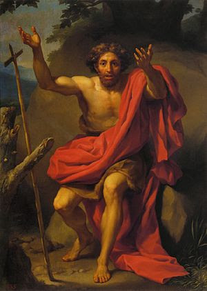 English: St. John the Baptist Preaching by Ant...