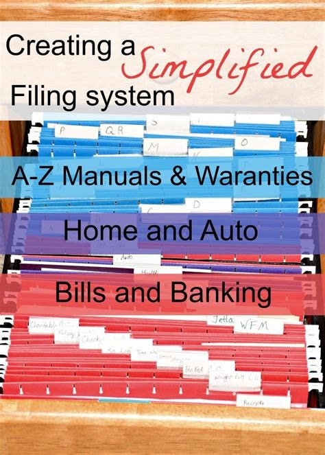 creating  simple filing system  personal  business